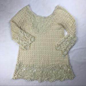 Umgee USA Lace Off-White Top